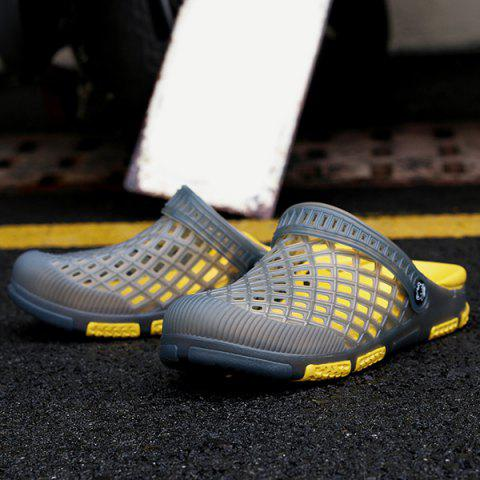 Buy Plastic Hollow Out Slippers - 43 GRAY Mobile