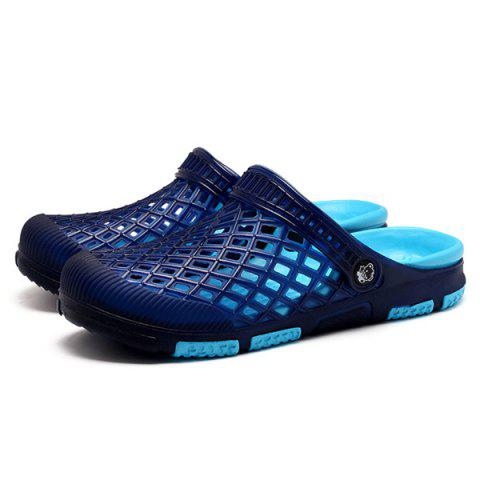 Trendy Plastic Hollow Out Slippers - 42 BLUE Mobile