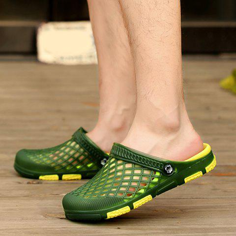 Best Plastic Hollow Out Slippers - 43 GREEN Mobile