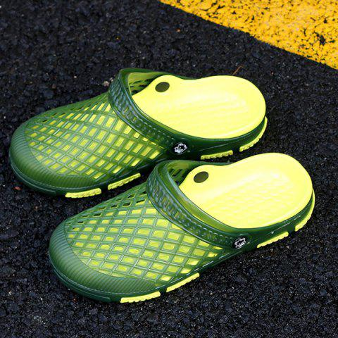 New Plastic Hollow Out Slippers - 44 GREEN Mobile