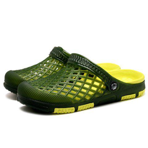 Unique Plastic Hollow Out Slippers - 41 GREEN Mobile