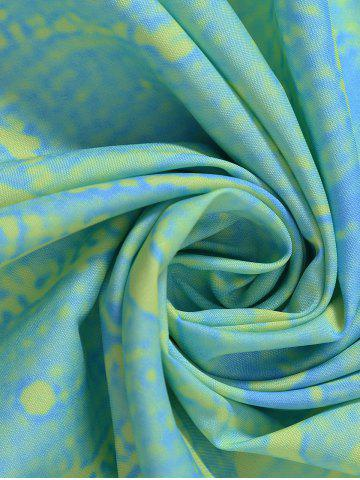 Discount Flower Print Round Tie Dye Beach Throw - ONE SIZE LIGHT GREEN Mobile