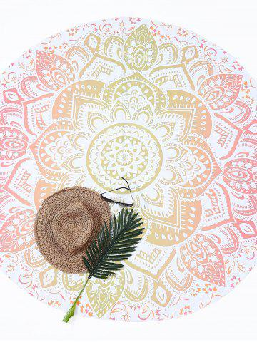 Buy Lotus Flower Round Beach Cover Throw - ONE SIZE GINGER Mobile