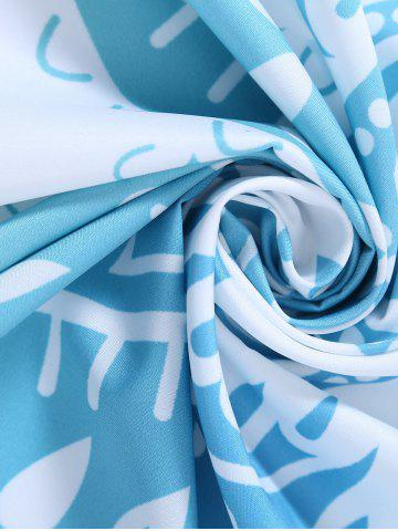 Outfits Lotus Flower Round Beach Cover Throw - ONE SIZE LIGHT BLUE Mobile