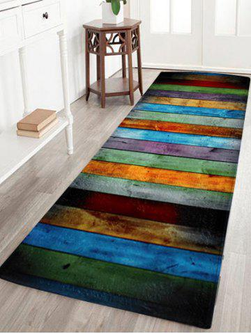 Discount Colorful Stripe Coral Velvet Large Area Rug - W24 INCH * L71 INCH COLORMIX Mobile