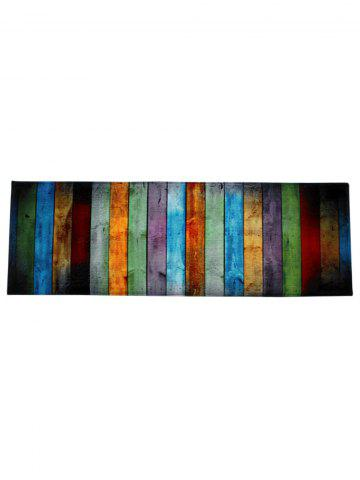 Hot Colorful Stripe Coral Velvet Large Area Rug - W24 INCH * L71 INCH COLORMIX Mobile