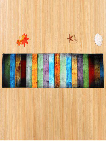 Affordable Colorful Stripe Coral Velvet Large Area Rug - W24 INCH * L71 INCH COLORMIX Mobile