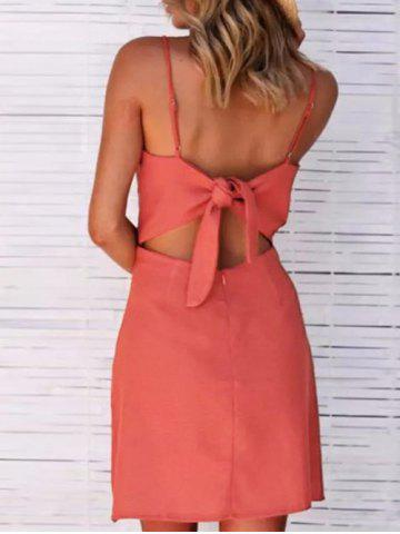 Affordable Spaghetti Strap Mini Cut Out Dress