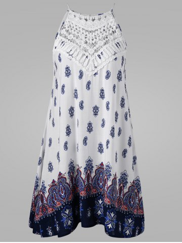 New Cutwork Tie Back Sleeveless Dress