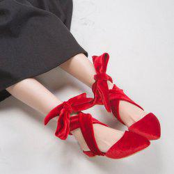 Pointed Toe Velvet Slippers