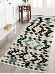 Geometric Water Absorption Flannel Antiskid Rug