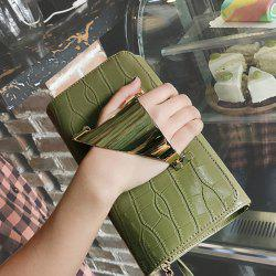 Metal Cuff Crocodile Embossed Clutch Bag