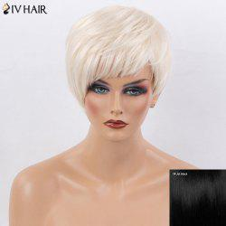 Siv Hair Side Bang Ultra Short Silky Straight Human Hair Wig