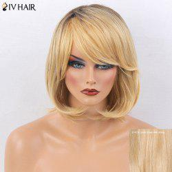 Siv Hair Side Bang Straight Short Tail Adduction Bob Colormix Human Hair Wig