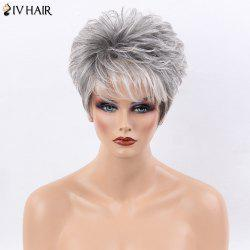 Siv Hair Ultra Short Shaggy Side Bang Straight Colormix Human Hair Wig -
