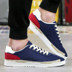 Colour Block Weaving Casual Shoes