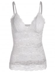 Adjustable Straps Padded Backless Lace Tank Top