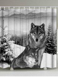 Wolf Animal Waterproof Fabric Shower Curtain