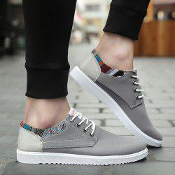 Tie Up Colour Block Canvas Shoes