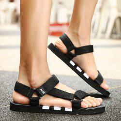 Plastic Striped Strappy Sandals