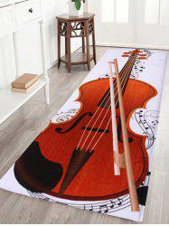 Soft Coral Fleece Cello Pattern Area Rug - COLORMIX