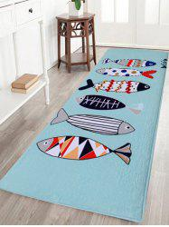 Cartoon Fish Coral Velvet Floor Area Rug