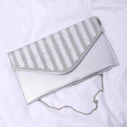 Chains Rhinestone Envelope Crossbody Bag