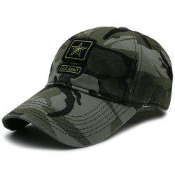 Pentagram Embellished Army Element Baseball Hat - CAMOUFLAGE