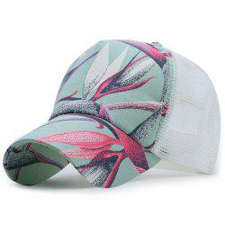 Mesh Spliced Plant Paiting Printing Baseball Hat