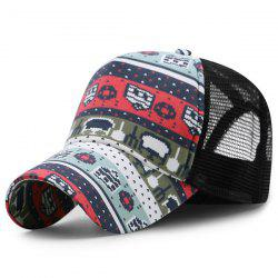 Mesh Splicing Cartoon Pattern Baseball Hat