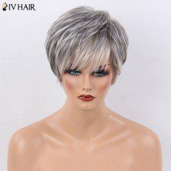 Siv Hair Short Layered Side Bang Natural Straight Human Hair Wig
