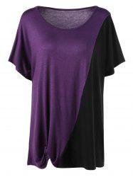Two Tone Plus Size T-Shirt