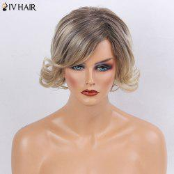Siv Hair Short Shaggy Side Bang Slightly Curly Human Hair Wig