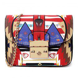 Print Chains Mini Crossbody Bag - MULTICOLOR