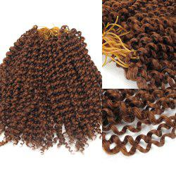 Afro Jerry Curl Shaggy Synthetic Hair Extension - AUBURN BROWN #30