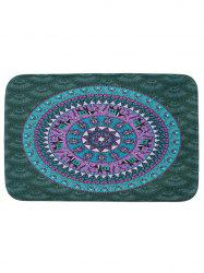 Mandala Coral Fleece Anti Slip Bath Rug