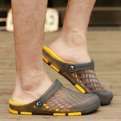 Plastic Hollow Out Slippers - GRAY 43