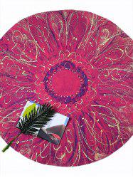 Flower Print Round Tie Dye Beach Throw