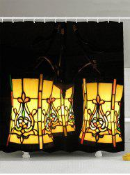 Waterproof Lantern Fabric Shower Curtain