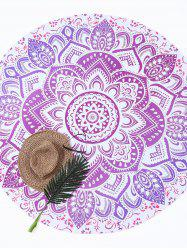 Lotus Flower Round Beach Cover Throw
