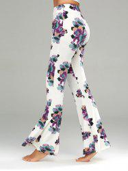 Floral Print Casual Flare Pants