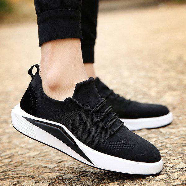 Store Suede Insert Printed Casual Shoes