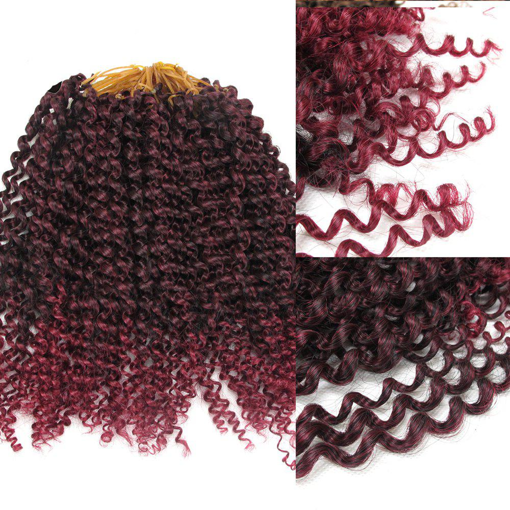Outfits Afro Jerry Curl Shaggy Synthetic Hair Extension