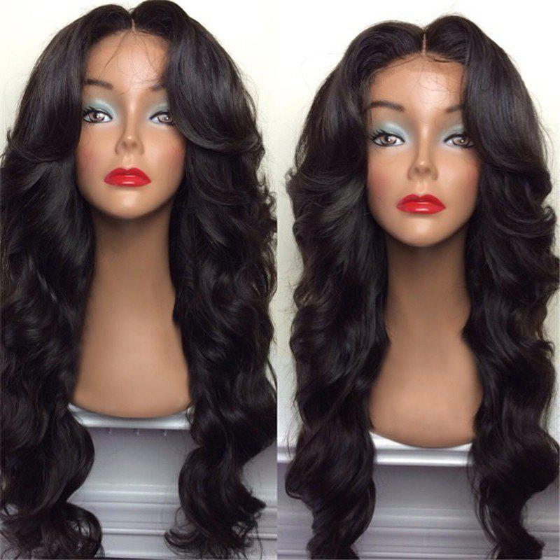 Long Center Part Shaggy Big Wavy Synthetic WigHAIR<br><br>Color: NATURAL BLACK; Type: Full Wigs; Cap Construction: Capless (Machine-Made); Style: Wavy; Material: Synthetic Hair; Bang Type: Middle; Length: Long; Length Size(CM): 70; Weight: 0.2750kg; Package Contents: 1 x Wig;