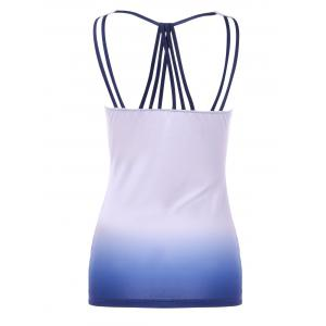 Ombre Cowl Neck Fitted Tank Top - LIGHT PURPLE M