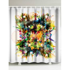 Flower Printed Waterproof Fabric Shower Curtain - Colorful - W71 Inch * L79 Inch