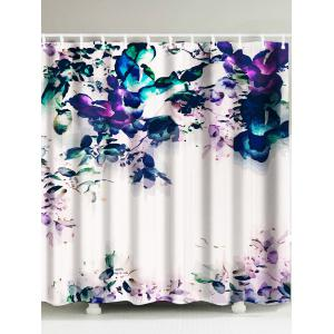 Painting Flower Waterproof Shower Curtain - Mosaic - W71 Inch * L79 Inch