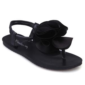 Flower Elastic Band Sandals
