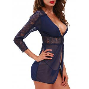 See Through Mesh Lace Babydoll Outfit -