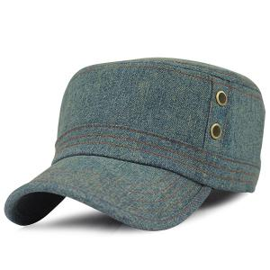 Outdoor Sunscreen Denim Flat Top Hat